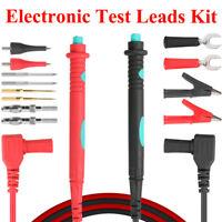 14pcs Electronic Test  Plug Leads Kit Digital Multimeter Test Extension Probe