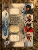 2017-18 UD Ice Frozen Foursomes Quad Jersey BURNS/DOUGHTY/KEITH/KARLSSON