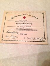 VINTAGE OLD 1942 THE AMERICAN NATIONAL RED CROSS MEMBERSHIP CARD NEW ORLEANS LA.