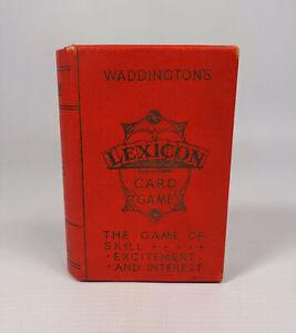Vintage Waddington's Lexicon Card Game 1933 Reg. No. 529991