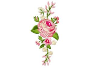 Set á 2 Stück Rose Rosen Aufnäher Patch Roses Applikation 203