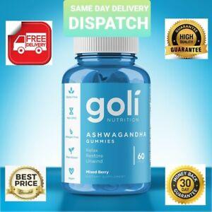 Goli ASHWAGANDHA  (60 Gummies) Same Day delivery dispatch》 Relax Restore Unwind