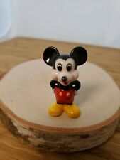 "Miniature Vintage Mickey Mouse porcelain figurine 1.75"" Disney Taiwan Collector"