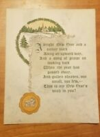 1910s Vintage Antique Christmas Card Unused blank inside