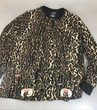 f980c8651e Nick   Nora Womens M Leopard Animal Print One Piece Fleece Footed Pajamas