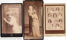 3 x alte CdV Foto um 1890 Opernschauspieler Hofoper Kopenhagen   ( F12351