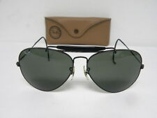 Vintage B&L Ray Ban Outdoorsman II Black Cable Wrap Temple G-15 62mm Aviator