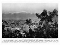 1922 Santiago at the foot of the Andes mountains vintage photo article ads59