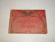 Old Postcard Album - Art Nouveau style.  Circa 1910s