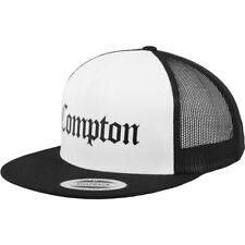 Compton Flexfit / Yupoong gorro tipo camionero blanco y negro