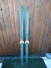 "VINTAGE Wooden 54"" Skis Has Original Old Finish Great For Decoration!!!"