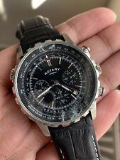 Rotary Men's Chronospeed Chronograph - Black Leather Strap Watch GB03351 WORKING