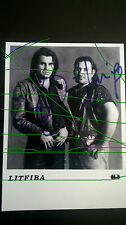 LITFIBA foto ufficiale bianco/nero autografo Piero Pelù e F Renzulli El Diablo