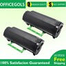 2 PK 50F1000 Black Toner For Lexmark MS310dn MS312dn MS315dn MS510dn MS610dte