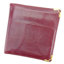 Auth Cartier wallet Must Line unisexused T2075