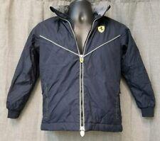 👕FERRARI Navy Blue Zippered Hooded Jacket Boys Size 7/8
