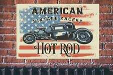 American Vintage corredores Hot Rod A2 Cartel Retro Coche Clásico