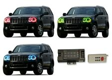 for Jeep Grand Cherokee 05-10 RGB Multi Color RF LED Halo kit for Headlights