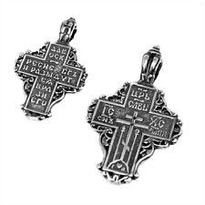 SILBER KREUZ 925 Sterling Orthodoxe Anhänger russisch k54 крест серебрянный