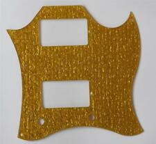 Gold Sparkle Plastic SG Full Face Pickguard for USA Gibson SG SPECIAL Guitar