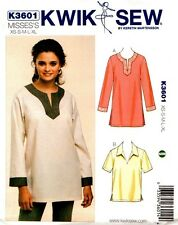 Kwik Sew Sewing Pattern K3601 3601 Misses Tops XS, S, M, L, XL New