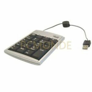 19-Key Mobile USB Numeric Keypad w/Retractable Cable   AKP-150