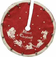 "Vintage-Style Jingle Bell CHRISTMAS TREE SKIRT, 12"", Primitives by Kathy"