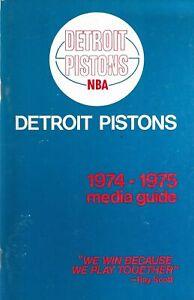 1974-75 Detroit Pistons National Basketball Association Media Guide - NBA