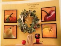 Vintage Fruit Plaques Set 4 Sonoma Villa Home Interiors & Gifts