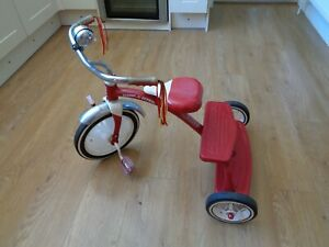 Radio Flyer Retro Classic Red Dual Deck Tricycle, Outdoor Toddler Trike Ages 2-5