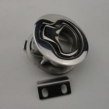 "High Quality 1 Piece Stainless Steel Hatch Flush Pull Latch 2"" For Boat Marine"