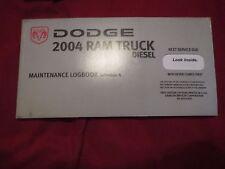 2004 DODGE RAM DIESEL TRUCK OWNERS MANUAL MAINTENANCE LOGBOOK LOG BOOK MANUAL