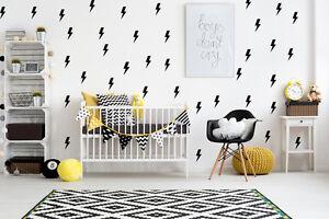 Lighting Bolt, Lightning Bolt Decal, Nursery Wall Decal, Childrens Wall Decals