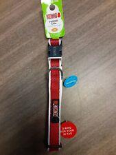 "Kong Comfort + Reflective Dog Collar Medium RED Neck Size 14"" - 20"""
