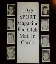 1955 SPORT MAGAZINE FAN CLUB MAIL IN OFFER BASKETBALL cards $9.99 each YOU PICK!