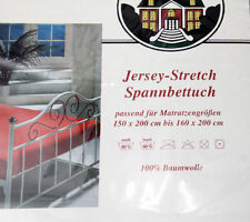 Tarrington House Jersey Spannbetttuch 160x200 grau Baumwolle neu unbenutzt OVP