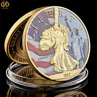 2017 USA Statue of Liberty Washington Dc Great Seal of United States Gold Coin