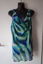 PORTMANS Sleeveless Cowl Neck Sheer Top .Size 14