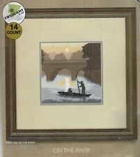 HERITAGE CRAFTS - SILHOUETTES - COUNTED CROSS STITCH KIT - ON THE RIVER