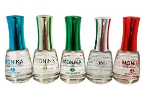 MONIKA - Dipping Powder Essentials Prep/Base/Activator/Top coat- 0.5 fl.oz/15mL