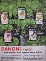 PUBLICITÉ DANONE YOGHOURT ET CONCENTRE NATUREL DE FRUITS