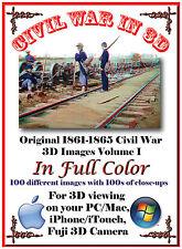 Civil War color stereoview SV anaglyph fuji my3d 3d