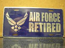 USAF LICENSE PLATE - U. S. AIR FORCE RETIRED - NEW EMBLEM