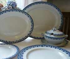 Wolsley Hancock & Sons Flow Blue Antique DInner Service Serves 6 or More