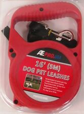 Pet Leash Dog Leash 16' feet foot (5m) Adjustable Lenth Stop/Release lever-Red