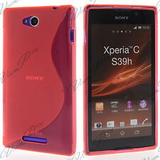 Accessories Case Cover TPU S Silicone Gel S-LINE Pink sony Xperia C S39H