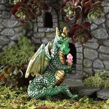 Green Ice Cream Dragon GO 17563 Miniature Fairy Garden Dollhouse
