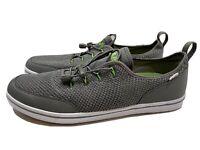 HUK Mania Performance Fishing Boat Shoes sz 13 Men's Gray/Green