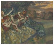 BALLET ART PRINT - Four Dancers, c. 1899 by Edgar Degas Dance Poster 11x14