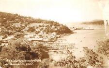 RPPC SAUSALITO, CA Waterfront Marin County Zan Photo ca 1940s Vintage Postcard